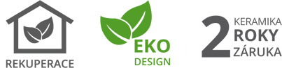 rekuperace ekodesign 2 roky zaruka keramika